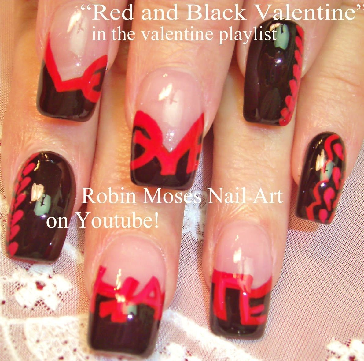 Valentine's Day Nail Art inspired by Christian Louboutin! xoxo