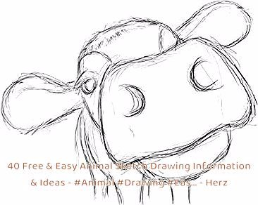 40 Free & Easy Animal Sketch Drawing Information & Ideas #Animal #Drawing #Eas