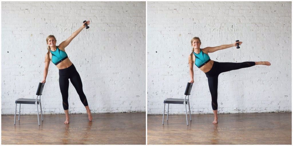 This beginner barre workout is the perfect way to start working out at home! These 7 barre exercises...