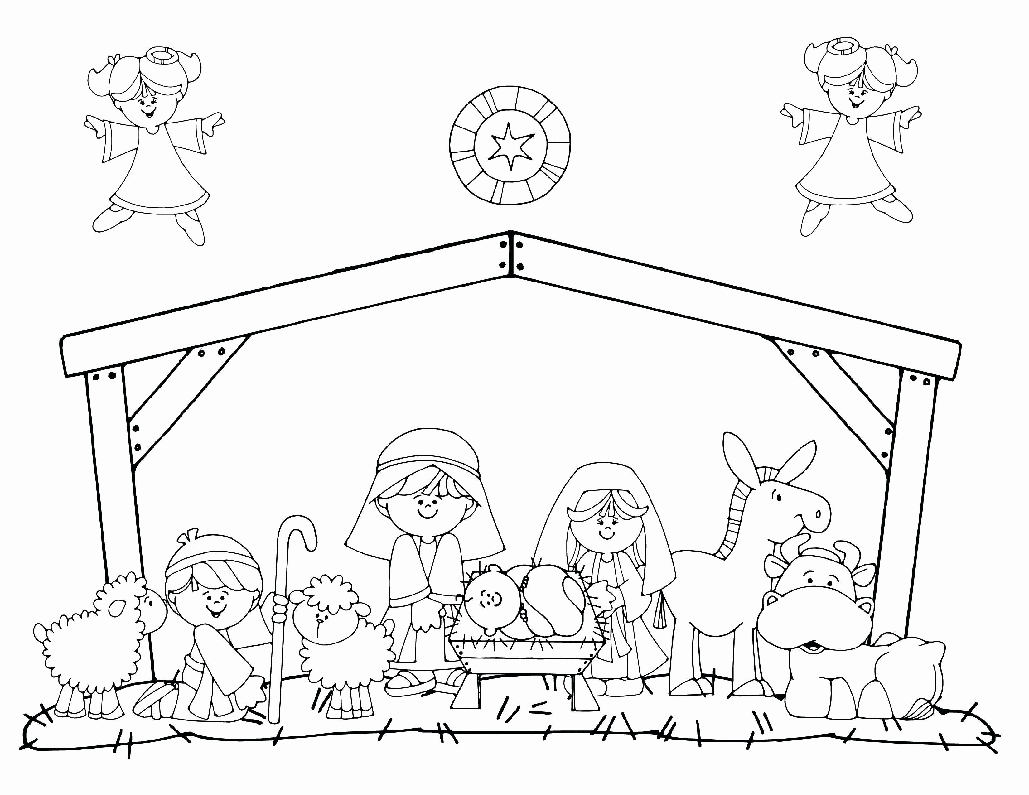 Christmas Manger Printable Coloring Pages Elegant Baby Jesus