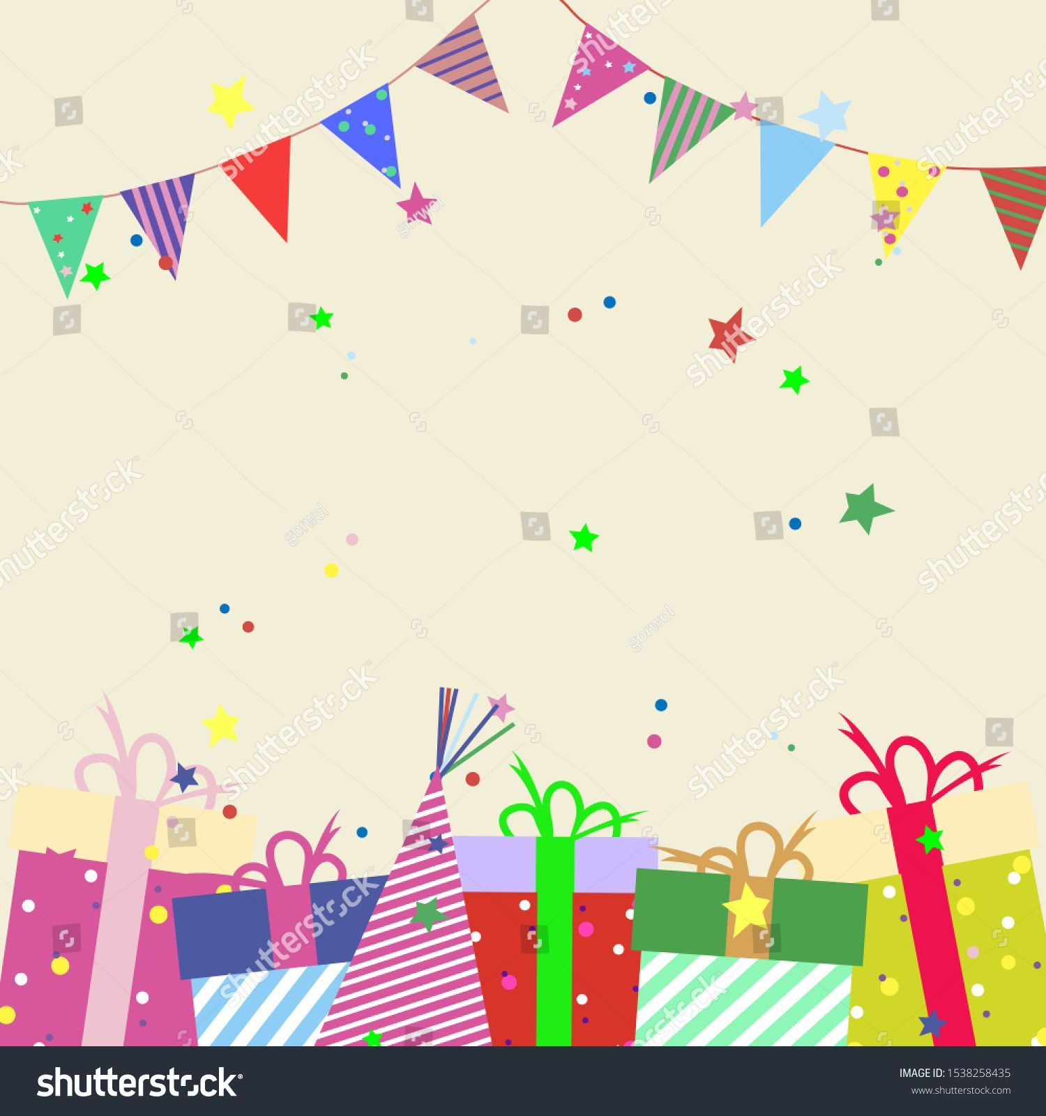 Gift Box Surprise And Holiday Flags Hand Drawn Winter Holiday Celebration Scan Box Celebrat Holiday Flag Holiday Celebration Winter Holidays