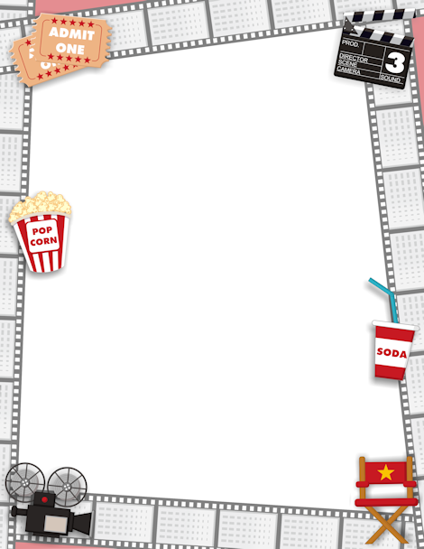 Printable movie border. Free GIF, JPG, PDF, and PNG ...