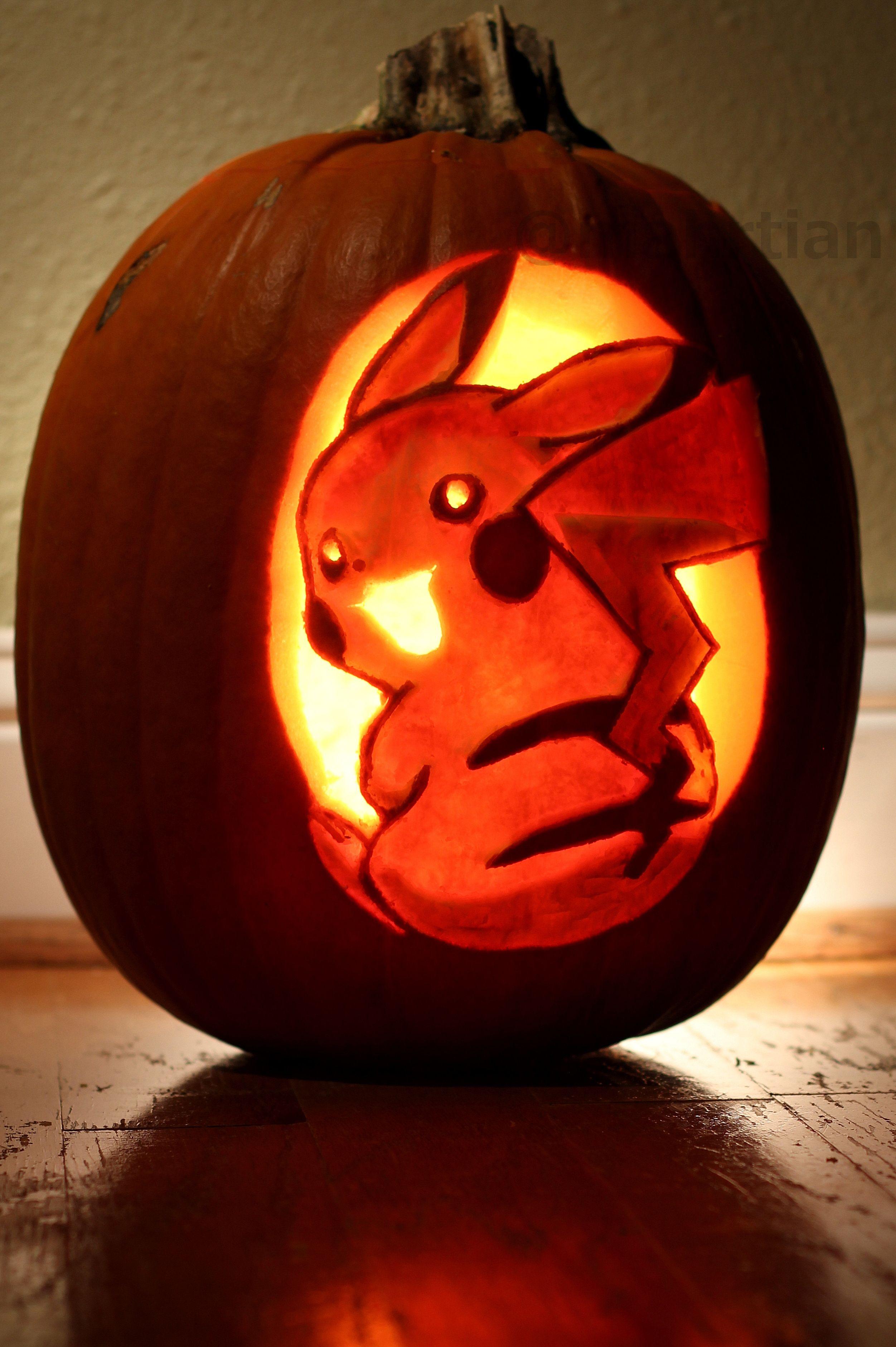 Pokemon Pikachu Halloween Pumpkin | Halloween Pumpkins | Pinterest