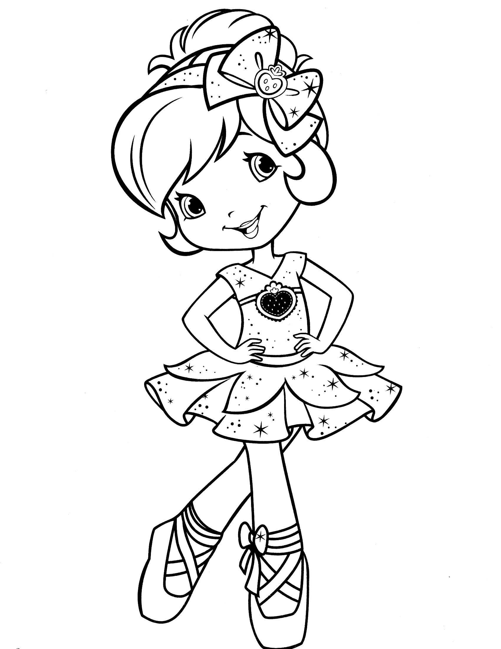 strawberry shortcake coloring page отрисовки