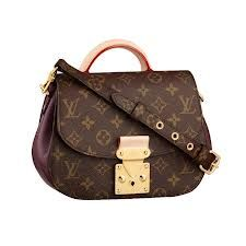 Eden Pm Louis Vuitton Bag Dark Brown Purple Available