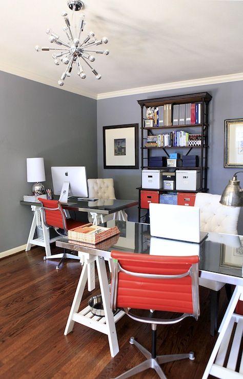 Benjamin Moore Deep Silver Home Office Space Office Space