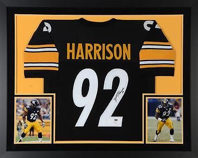 James Harrison Pittsburgh Steelers Deluxe Framed Autographed Black Jersey  JSA  Football a2ab7c8ef