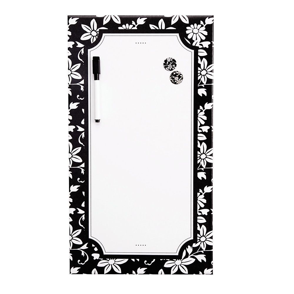 See Jane Work® Magnetic Dry-Erase Board, Black Floral
