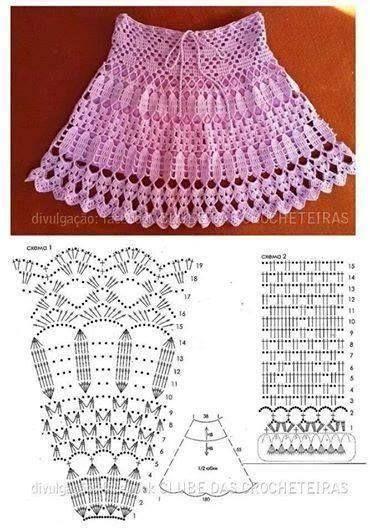 Patrón #677: Falda volada tejida a Crochet | CTejidas [Crochet y Dos Agujas]