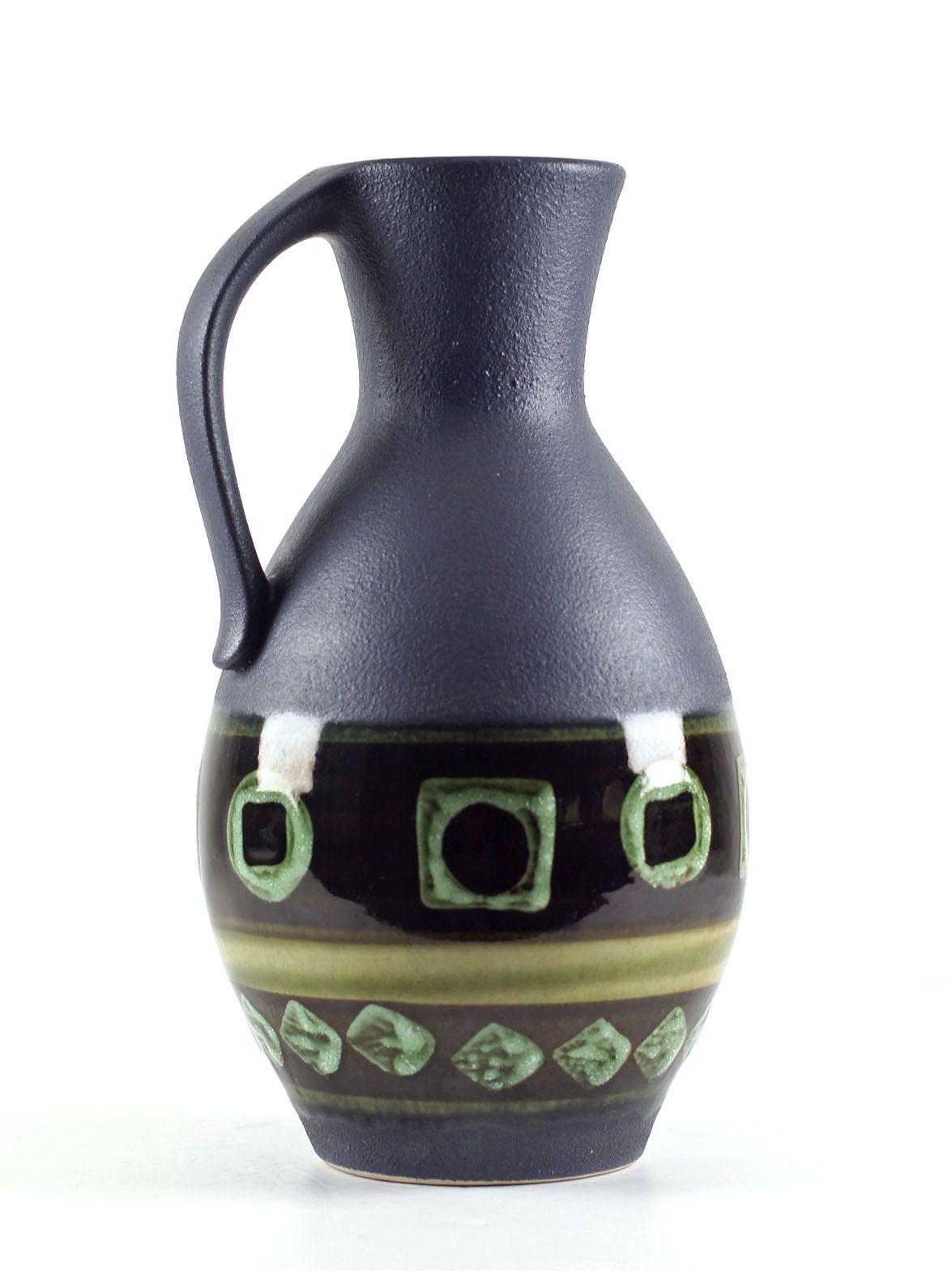 Dumler Breiden Keramik 60 70s Retro West German Pottery Grau Grün
