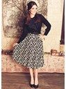 about $48 People Tree | Flared Floral Skirt