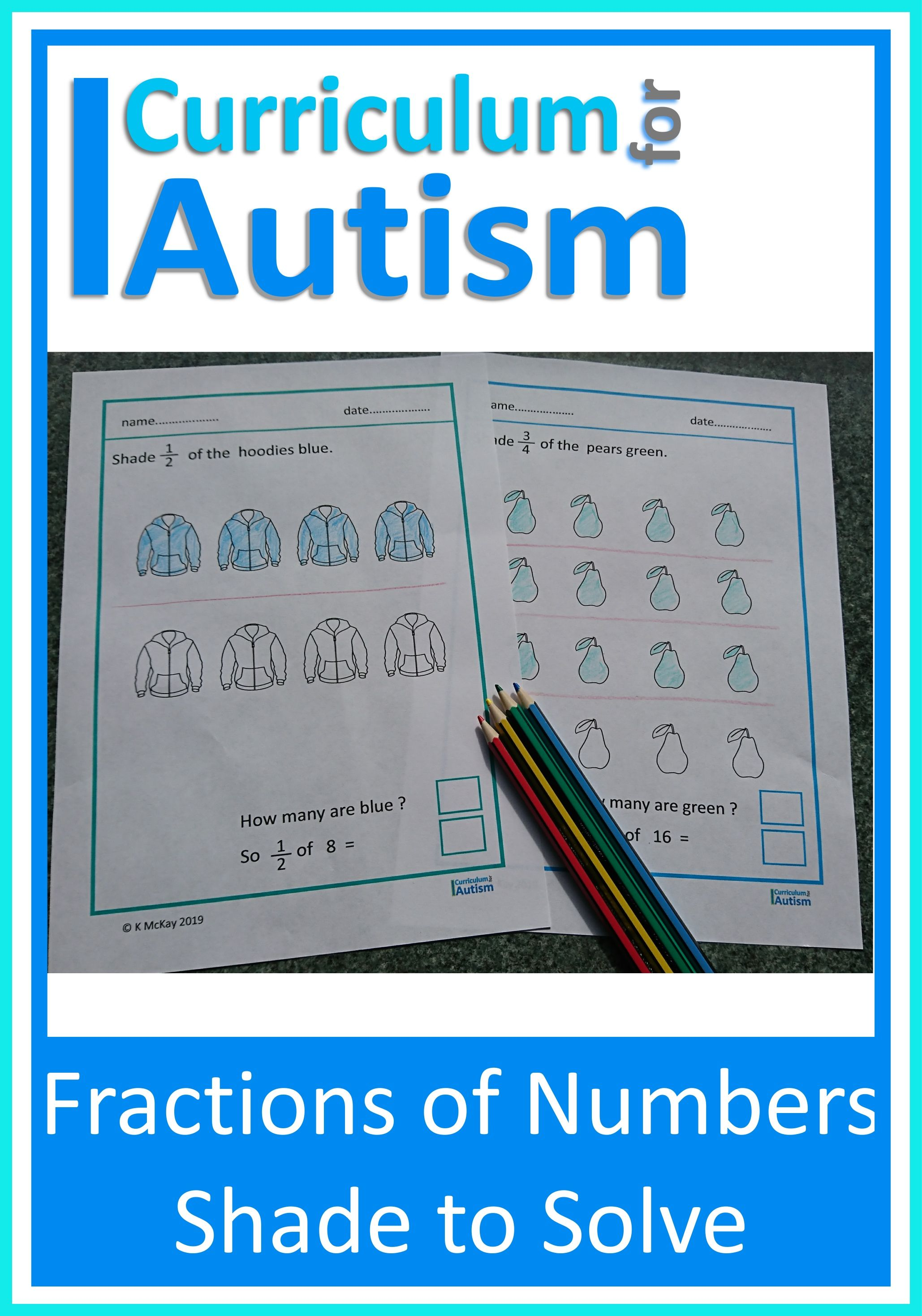 Fractions Of Numbers Shade To Solve Worksheets