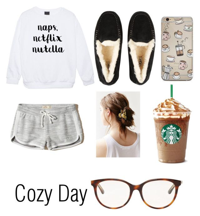 """""""Cozy Day"""" by mirah11 ❤ liked on Polyvore featuring Hollister Co., UGG, Christian Dior and Urban Outfitters"""