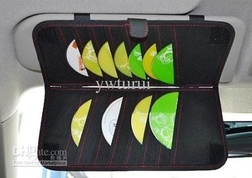 Car High Capacity Cd Storage Sunshading Board Holder With Tissue Paper Design Online