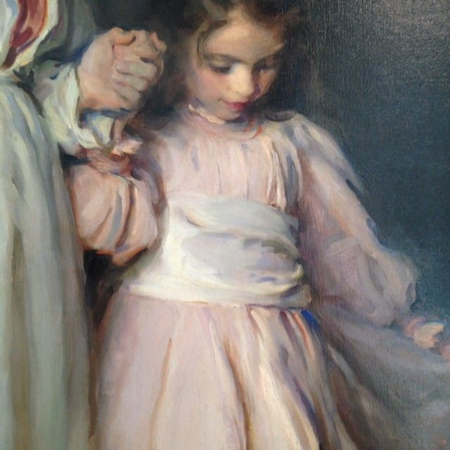 "Detail of ""Dorothea and Francesca,"" 1898 -- by Cecilia Beaux ..."