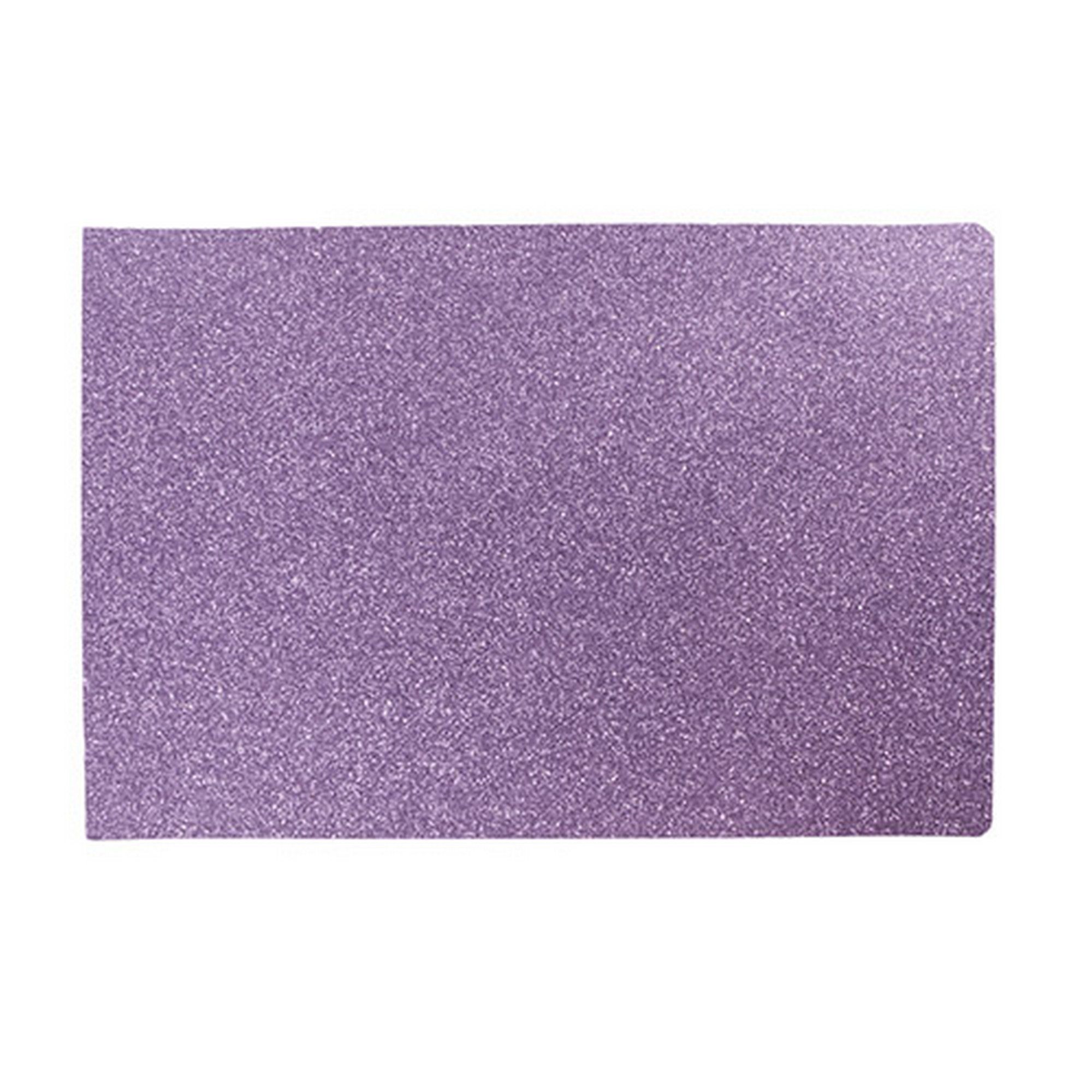 West5products Childrens Large Bright Purple Glitter Glamour Plasticated Placemat Co Uk Kitchen Home