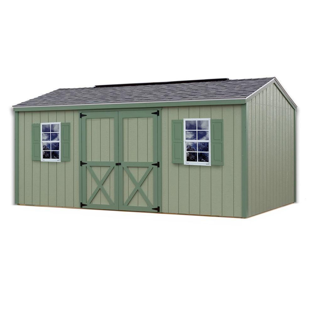 Best Barns Cypress 16 Ft X 10 Ft Wood Storage Shed Kit Cypress 1610 The Home Depot Wood Storage Sheds Wood Shed Plans Diy Storage Shed