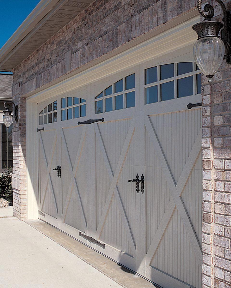Take A Look At This Stylish Brown Garage Doors What A Creative Theme Browngaragedoors Garage Door Styles Carriage House Garage Fiberglass Garage Doors