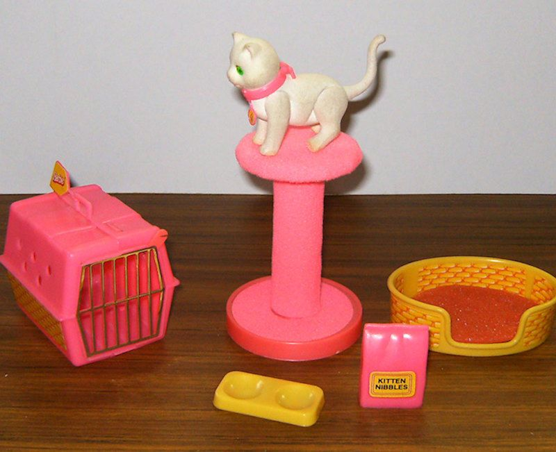 Fluffy Barbies White Cat Vintage 1982 Accessories EUC Barbie Doll Pet Kitty  80s | Barbie cat, Barbie dolls, Barbie