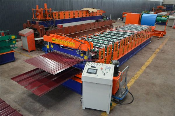 Double Layer Press Tile Machine Production Of Color Steel Tile Appearance Of Beautiful Even Paint Patterns H Roofing Sheets Roll Forming Plates On Wall