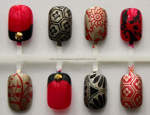 Kyoto Enchantment. Japanese Nail Art Fake by Nevertoomuchglitter