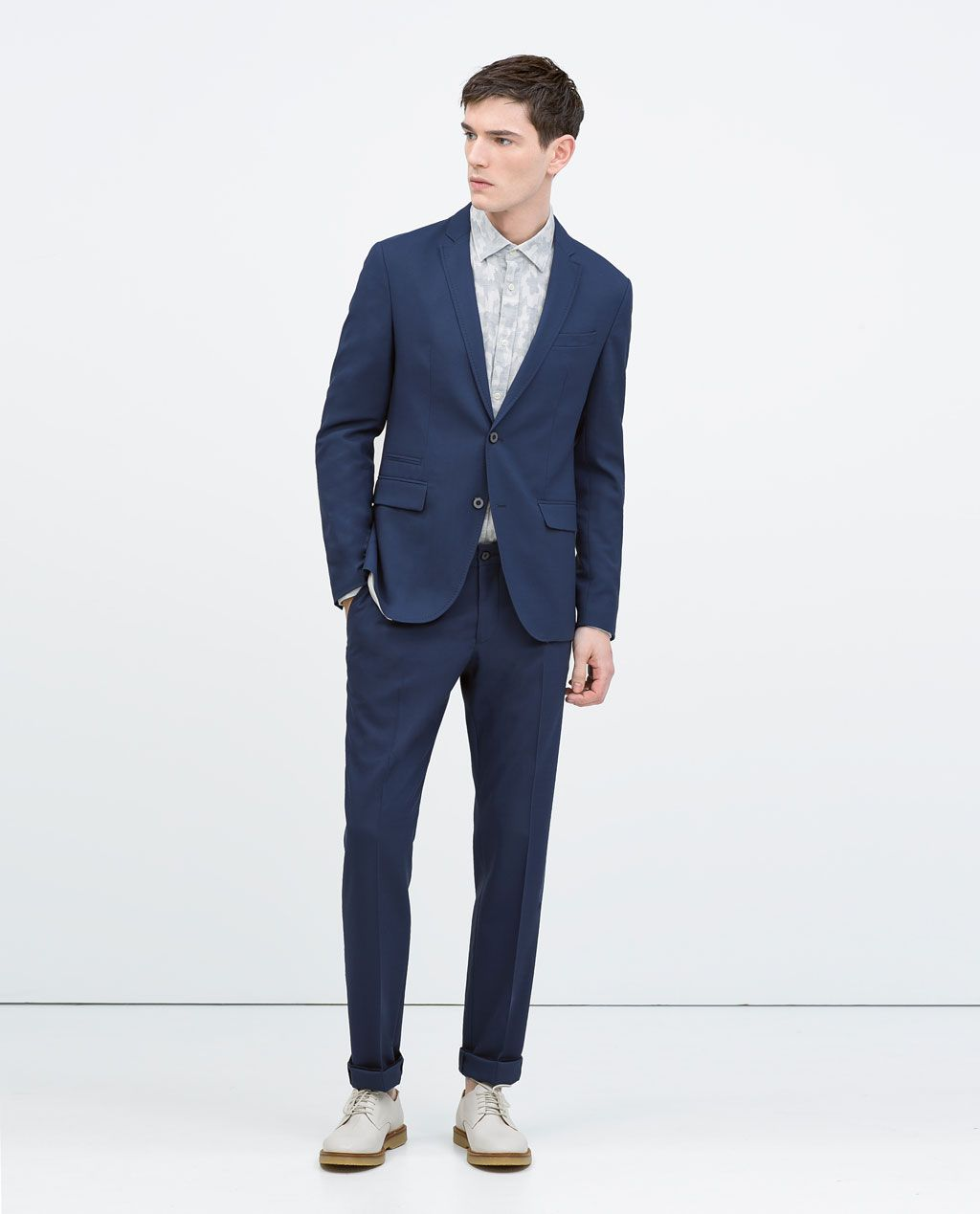 59e2b107e5 DEEP BLUE SUIT-Suits-MAN | ZARA United States | Groom and his dudes ...
