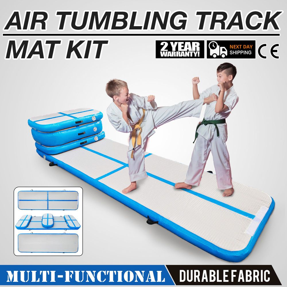 Air Track Floor Tumbling Inflatable Gym Mat Set Water