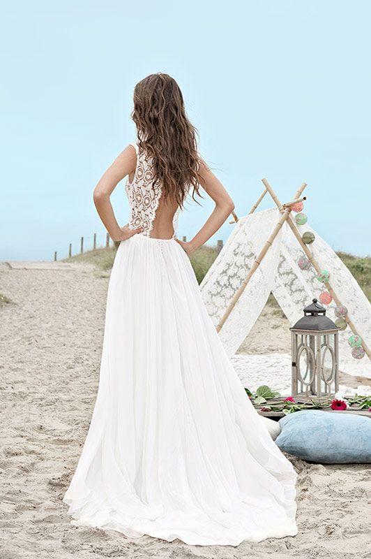 Robe de mariée dentelle moderne | Fabienne