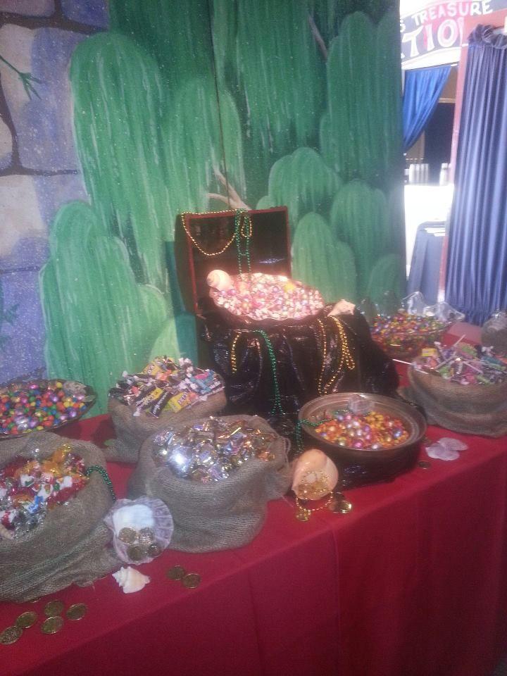 Pirates treasure of candies at Cinderella Ball for Va. Rep