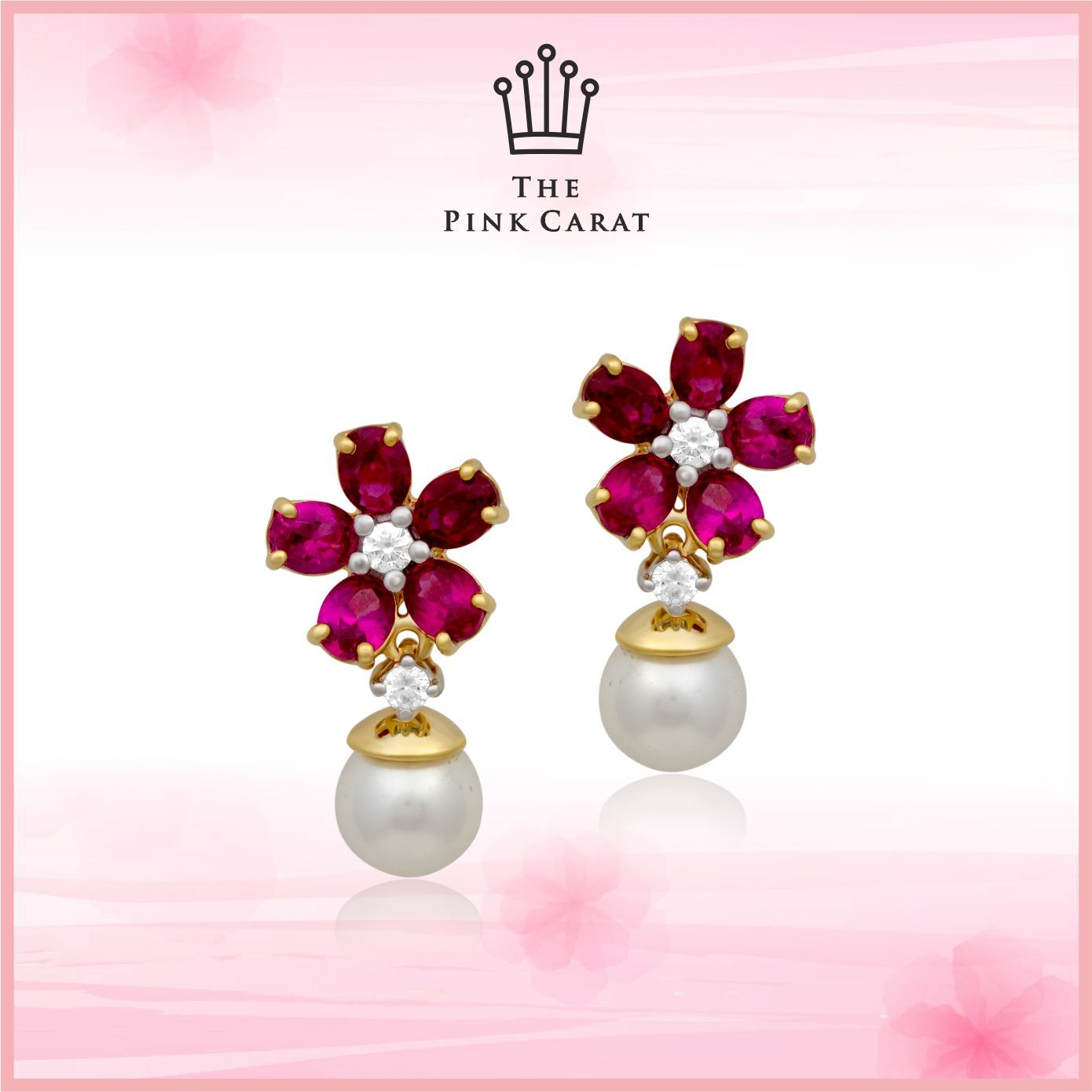 Be your own kind of beautiful with these #ruby #earrings.  #thepinkcarat #jewellery