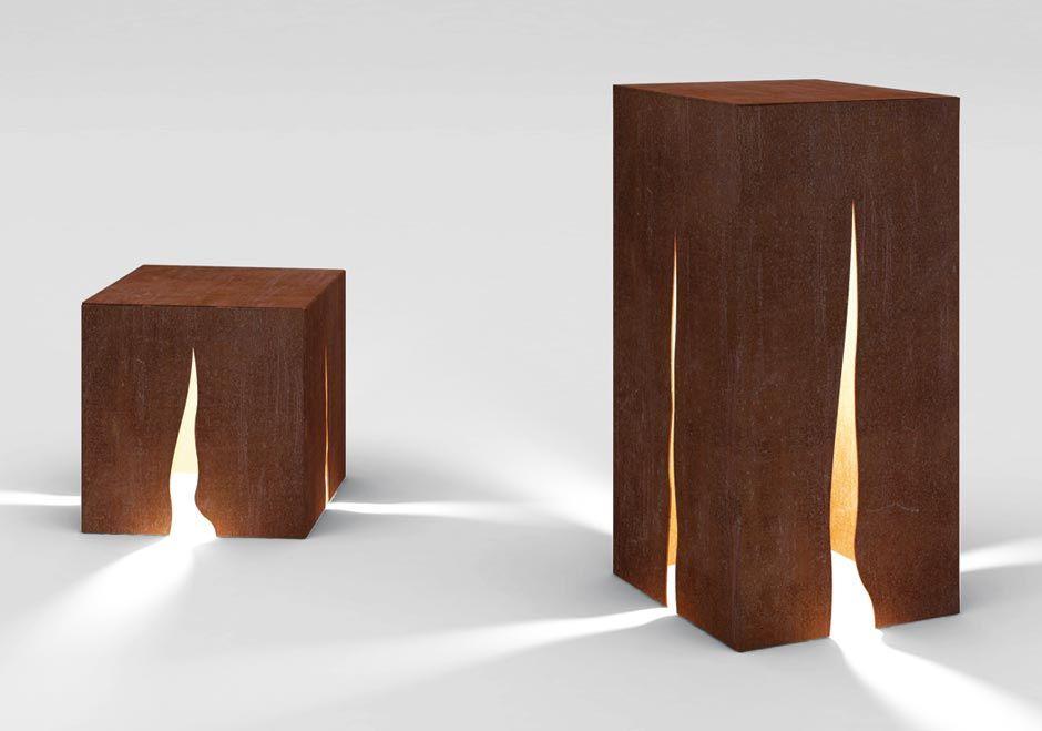 garten und parkleuchte granito aus cortenstahl von. Black Bedroom Furniture Sets. Home Design Ideas