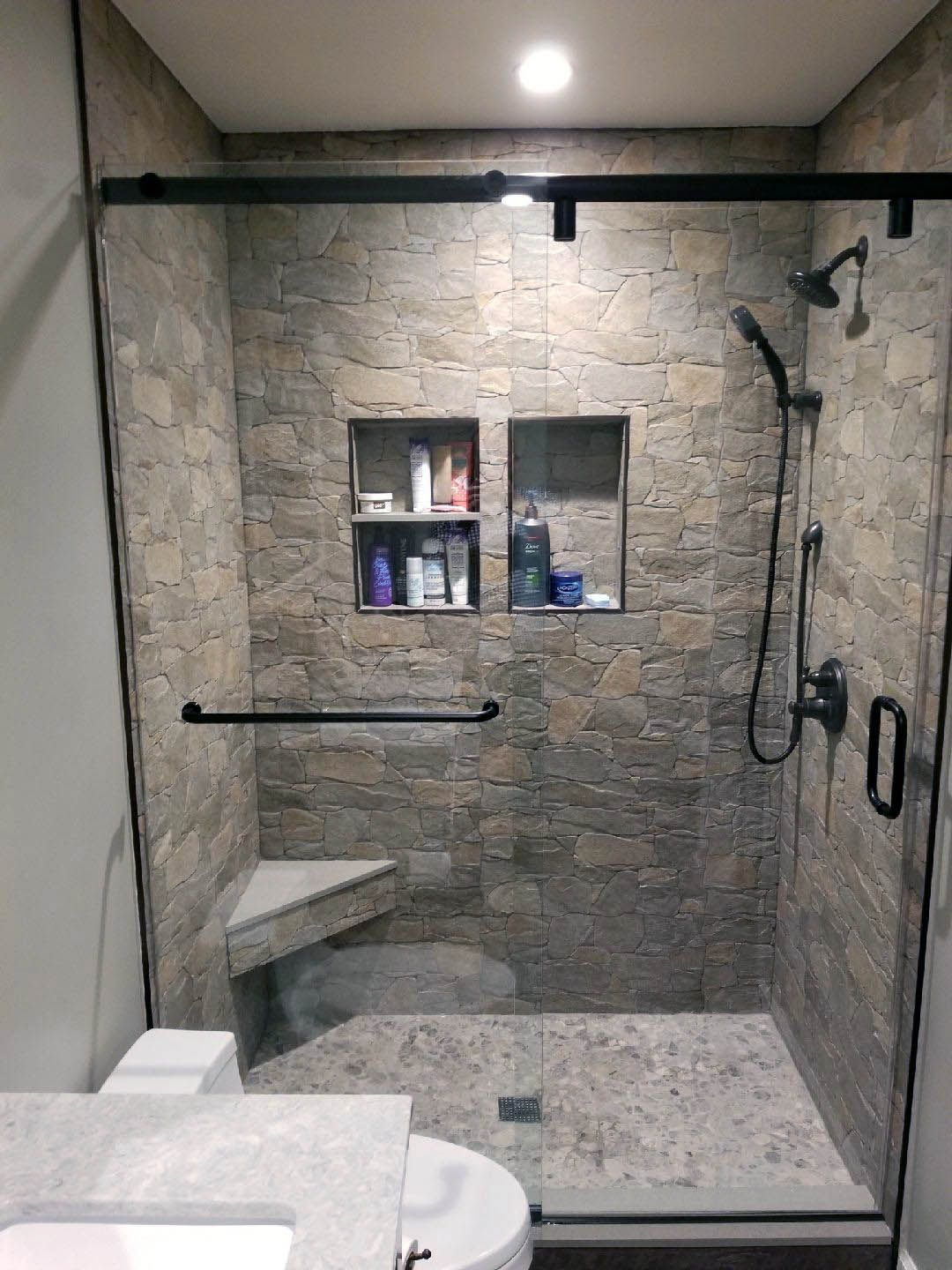 Discover Bathroom Shower Tile Ideas Grey Only In Smart Homefi Design Shower Tile Bathroom Shower Tile Shower Remodel