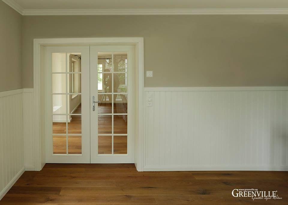 French-Door und weißes Paneel bieten einen sehr schönen Kontrast zur ...