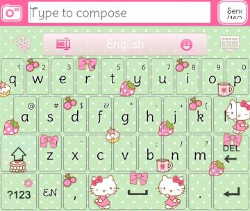 Hello Kitty Ride Go Keyboard Skins Hello Kitty Hello Kitty Wallpaper Android Keyboard