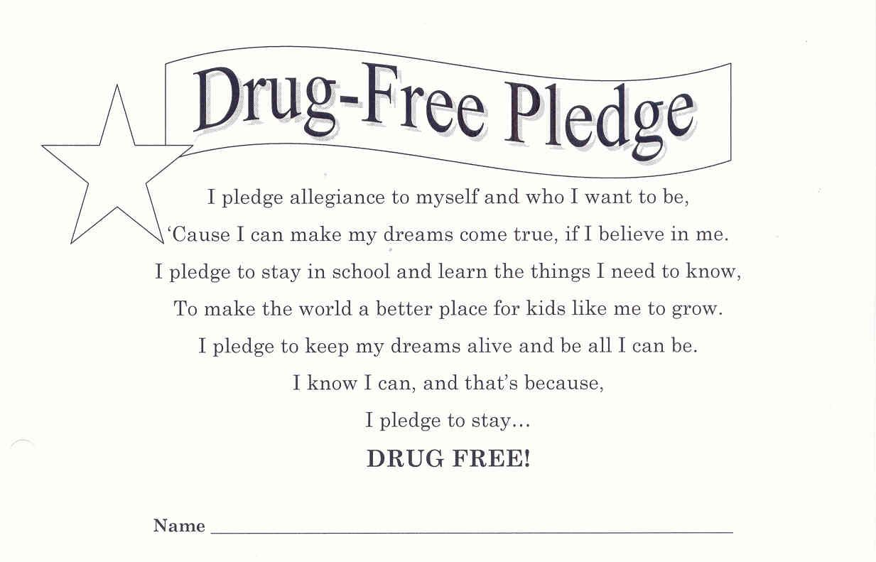Red Ribbon Week Drug Free Pledge