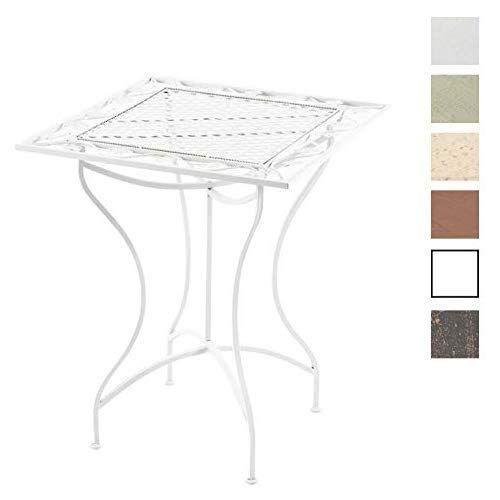 CLP Table de Jardin Carrée Asina en Fer Forgé - Table de ...