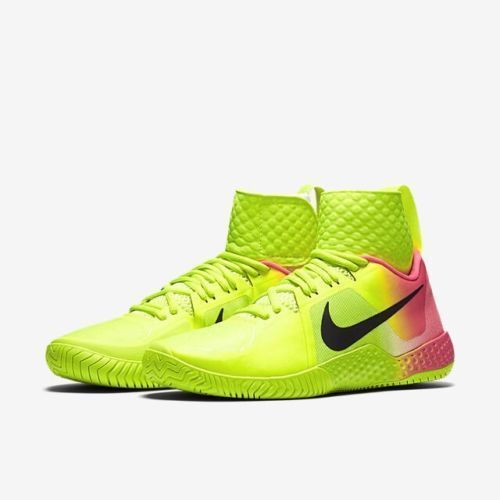 Nike Flare OC Womens Tennis Shoes Volt Black Pink Blast 810964 706 Serena
