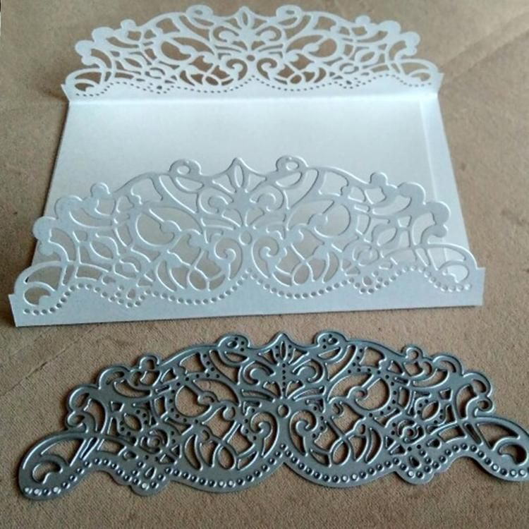 Making Scrapbook Greeting Card Hollow Frame Metal Cutting Laces Stencil Decor