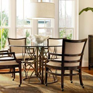 Dining Room Table With Chairs On Wheels  Httpecigcoach Amazing Dining Room Chairs On Wheels Inspiration Design