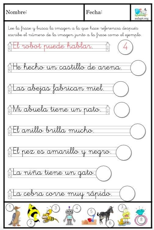 Pin von Begoña García auf Fichas comprensión lectora | Pinterest | Kind