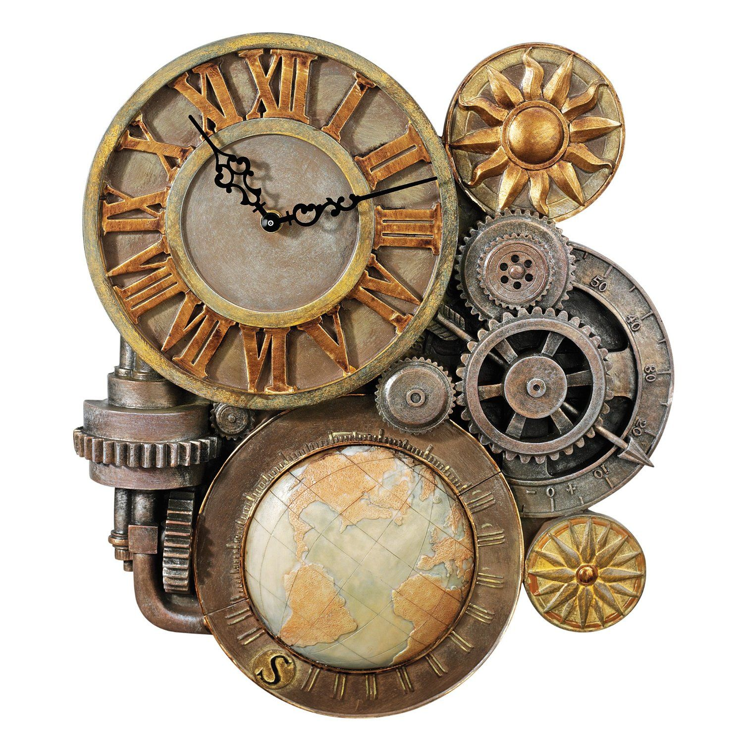 Design toscano gears of time sculptural wall clock home kitchen design toscano gears of time sculptural wall clock home kitchen amipublicfo Images