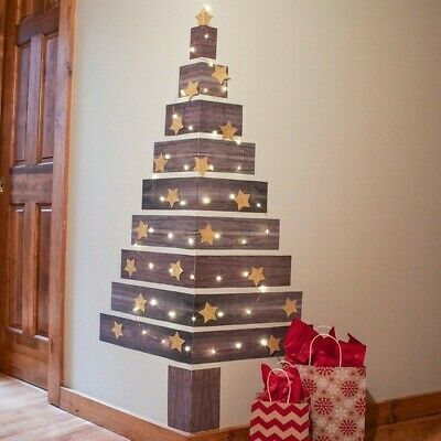 Jumbo Faux Fake Wood Pallet Plank Corner Christmas Tree ...