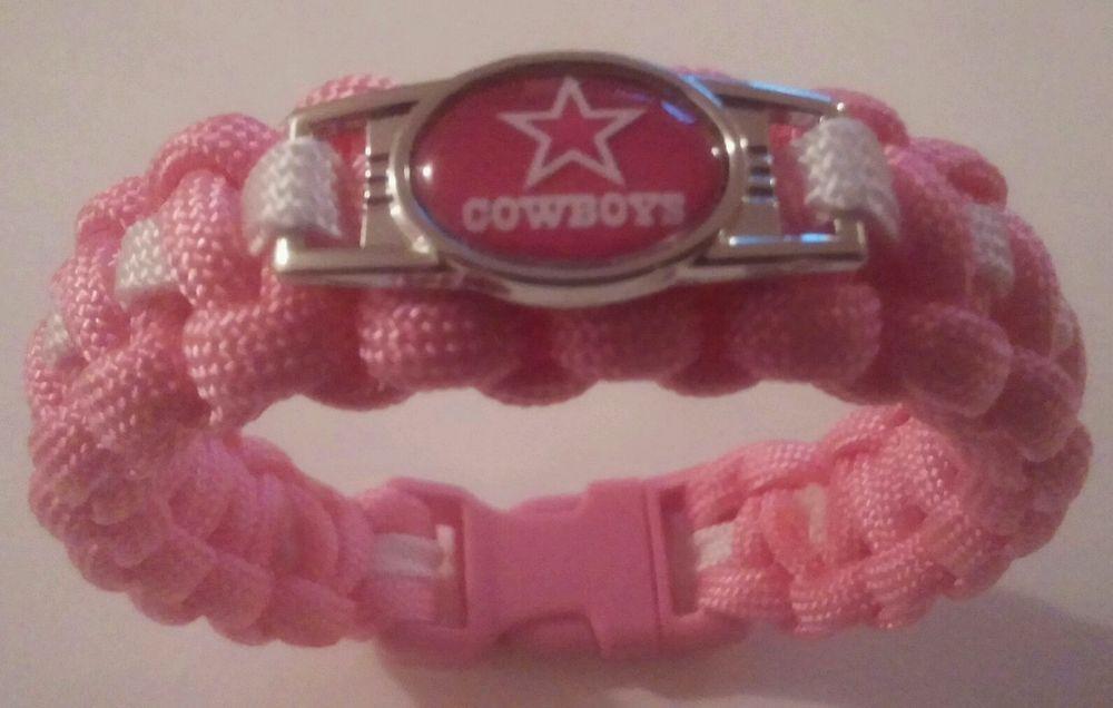 NFL Dallas Cowboys Paracord Bracelet - Awareness - Choose Your Size in Sports Mem, Cards & Fan Shop, Fan Apparel & Souvenirs, Football-NFL | eBay
