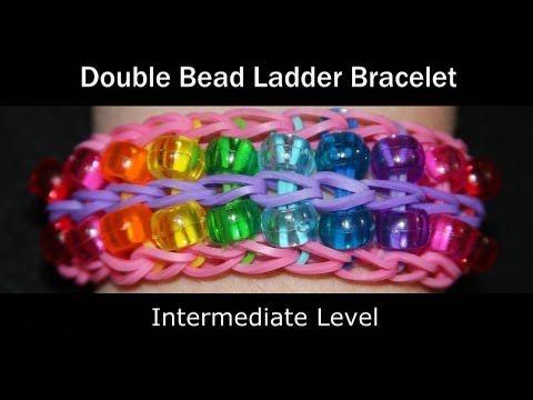 Rainbow Loomr Double Bead Ladder Bracelet Youtube Kids