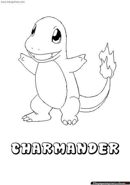 Dibujos de Pokemon para Imprimir y Colorear | Charmander | Pinterest ...
