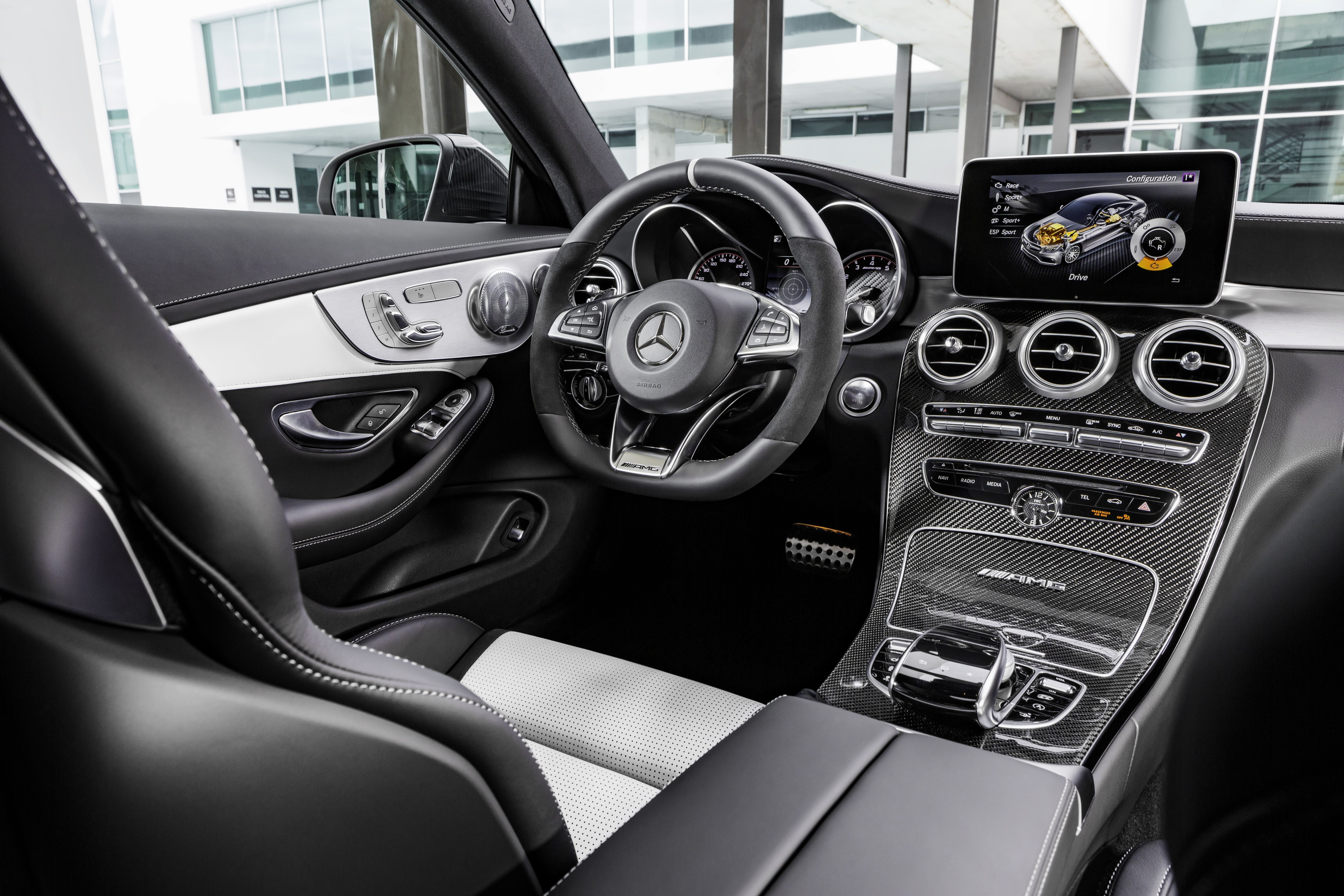 Command Bridge Inside The Mercedes Amg C 63 S Coupe Combined