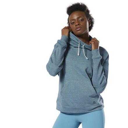 f0e78f7d13 Reebok Women's Training Essentials Marble Cowl Neck Sweatshirt in ...
