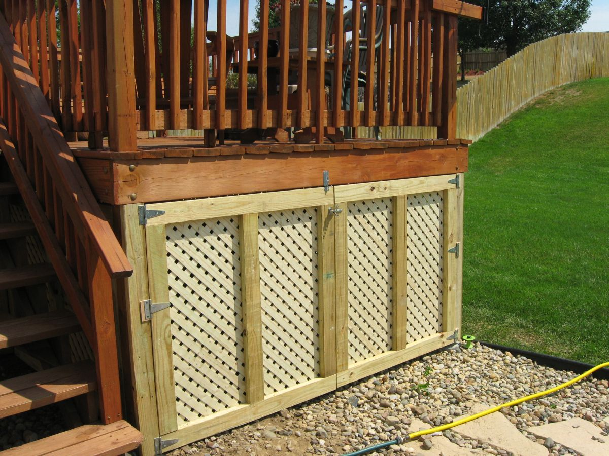 Lattice Panels For The Underside Of The Deck Under Decks Under Deck Storage Deck Storage