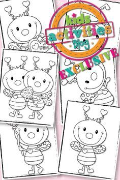 EXCLUSIVE} LOVE BUG COLORING PAGES – FREE | Free kids activities and ...