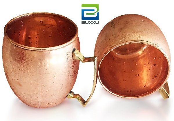 2-Piece Set: Buxxu solid #MoscowMule mugs with charming brass handle at only $44.99!